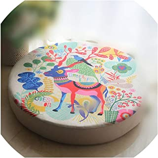Mo Duo Flamingo Cushion Cover 80mm Thick Removable and Washable Futon Fabric Round Tatami Bay Window Floor Cushion Pad Xmas Decor,500x500x80mm,O
