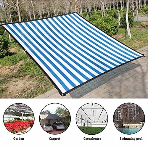 Toldo Red De Sombrilla Anti-UV De HDPE Paño Protector Solar para Jardín Al Aire Libre Car Sunblock Shade Cover Plant Invernadero Cubierta, 90% De Tasa De Sombreado (Color : Blue, Size : 3mx4m)