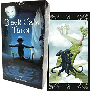 タロットカード 78枚 ウェイト版 タロット占い 【 ブラックキャッツ・タロット Black Cats Tarot 】日本語解説書付き [正規品]