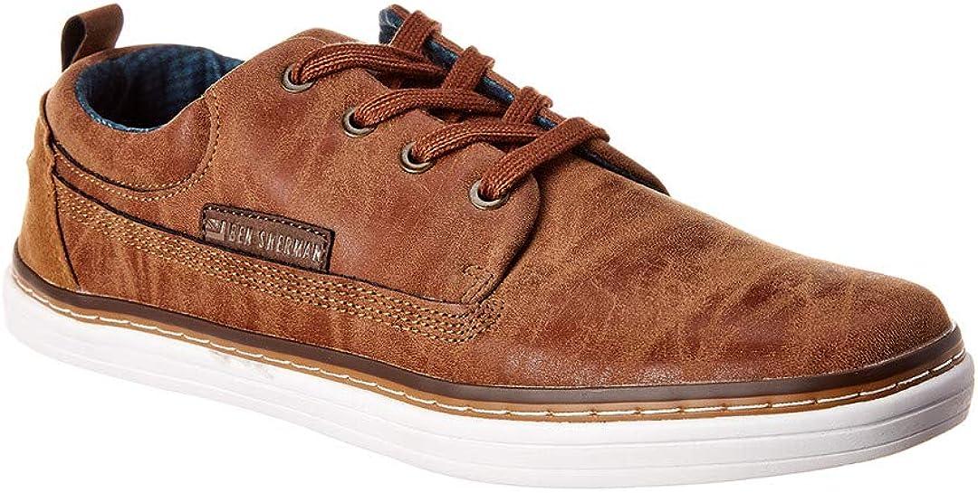 Ben Sherman Mens 2021 new online shopping Brahma Tan Fashion Oxford Sneakers