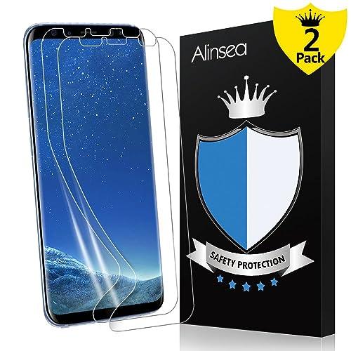 36b65a8f70 Alinsea Galaxy S8 Screen Protector, Galaxy S8 Screen Protector [Case  Friendly] [Bubble