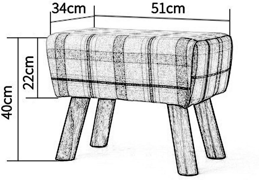 N / A Repose-Pieds, Tabouret en Bois Massif Salon Table Basse Banc Loisirs Chaise Balcon canapé Ottoman (Couleur, A),C C