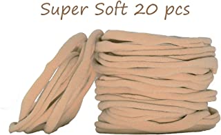 catin Super Soft Nude Nylon Headband for Newborn Baby Kids, High Stretchy, 20 Pcs for DIY Crafts