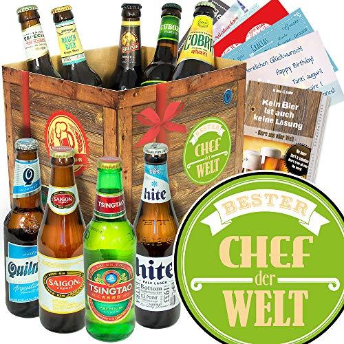 Bester Chef - 24 Biersorten der Welt - Geschenke für den besten Chef - Adventskalender Bier