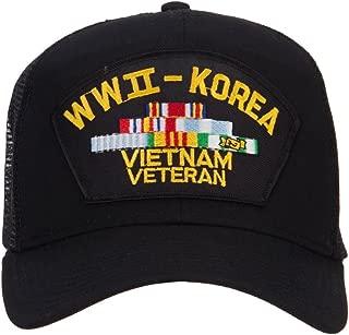 e4Hats.com WW2 Korea Vietnam Veteran Patched Mesh Cap