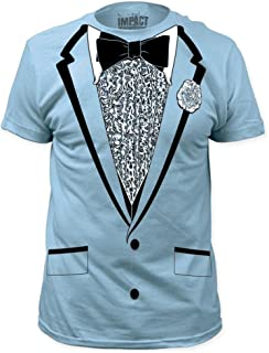 Impact Original Retro Prom Tuxedo Light Blue T-Shirt, M