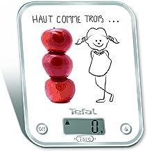 Tefal BC5134V0 Optiss Decor Haut comme 3 Pommes Balance de Cuisine, Blanc