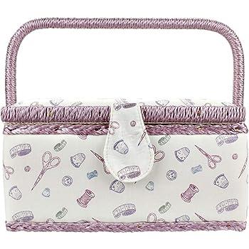 Urhomy 裁縫箱 ソーイングボックス 角度調整可能 二層収納 手芸用 大容量 ピンクッション 小物収納 裁縫用品 収納力抜群 裁縫セット 縫製バスケット ソーイング ボックス 裁縫 箱