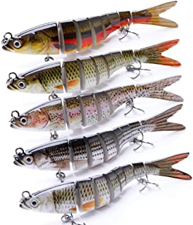 VTAVTA Fishing Lures for Bass Slow Sinking Multi Jointed Swimbaits Topwater Bass Lures Life-Like Fish Glide Bait Tackle Kits