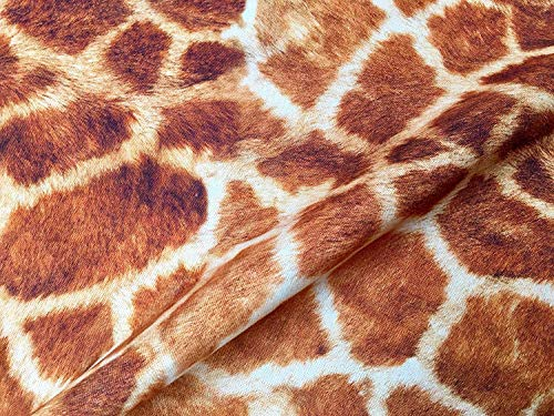 Giraffe Stof Digitale Animal Print Katoen Materiaal - gordijnen, decor, jurk, inrichting - Bruin, Brons & Crème Vierkanten - 140cm breed