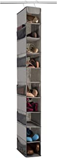 Premium Shoe Storage 10 Hanging Shelves 10 Pockets Tear-Proof Dust-Proof Fabric Super Easy Assembly