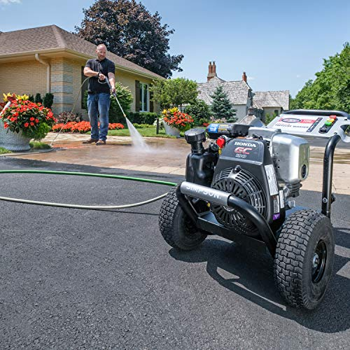 Simpson Cleaning MSH3125 MegaShot Gas Pressure Washer Powered by Honda GC190, 3200 PSI at 2.5 GPM, black