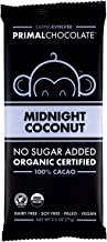 Evolved Chocolate - Organic Keto Chocolate Bar, Midnight Coconut, 100% Cacao - Keto, Dairy-Free, Soy-Free, Paleo Friendly, Vegan Friendly, No Added Sugar, Dark Chocolate - 2.3 ounce each (8 Count)