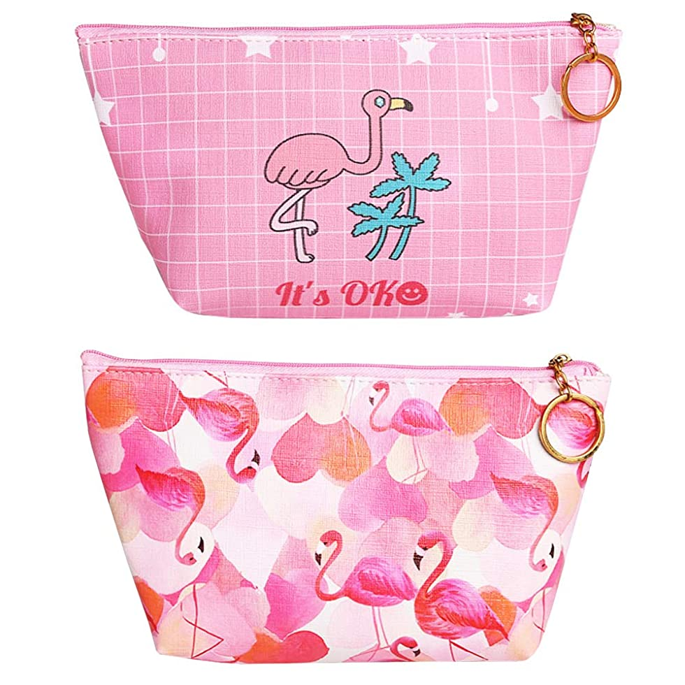 不機嫌順応性第二ピンクの毛布と愛のプリント化粧袋2でポータブル旅行化粧品袋主催防水ジッパー化粧品袋の女性のバッグの女の子