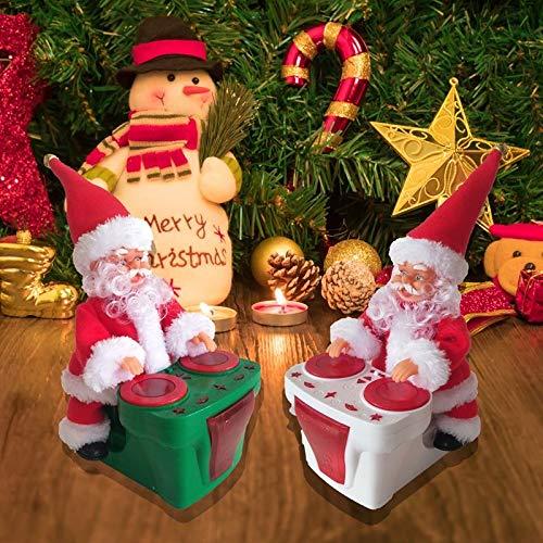 Lmani Santa Toy, Christmas Electric Drumming Santa Claus Xmas Party Santa Doll Plaything for Kids Children Gift