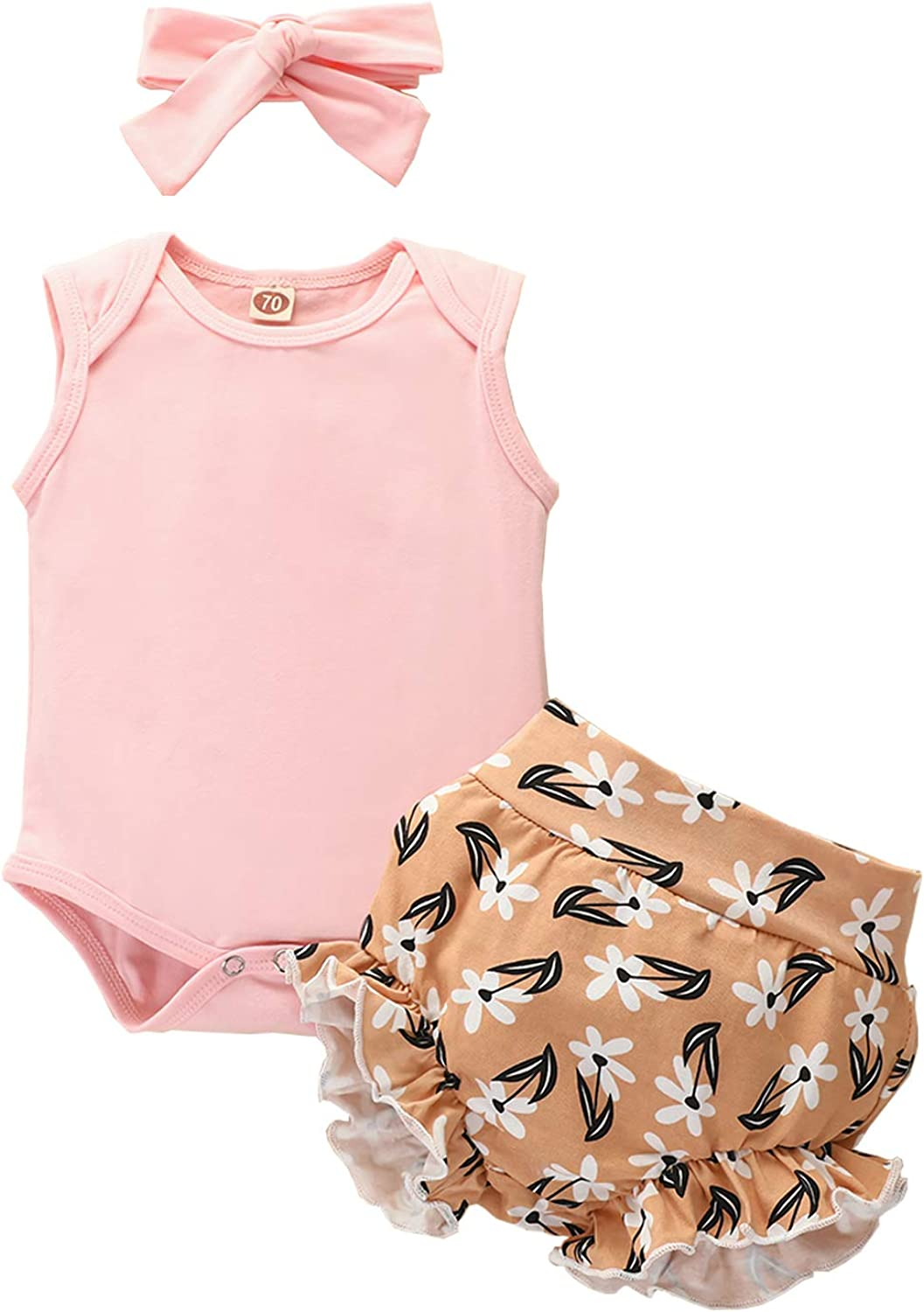 Jacksonville Mall All stores are sold SEVEN YOUNG Newborn Baby Girls Romper+ Clothes Sleeveless Summer