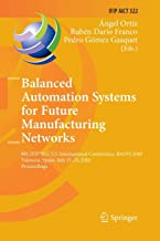 Balanced Automation Systems for Future Manufacturing Networks: 9th IFIP WG 5.5 International Conference, BASYS 2010, Valencia, Spain, July 21-23, 2010, Proceedings