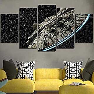 JESC Wall Decor Canvas Picture Star Poster 5 Pieces Art Home Framed HD Printed Canvas Painting (20x35cmx2,20x45cmx2,20x55cmx1)
