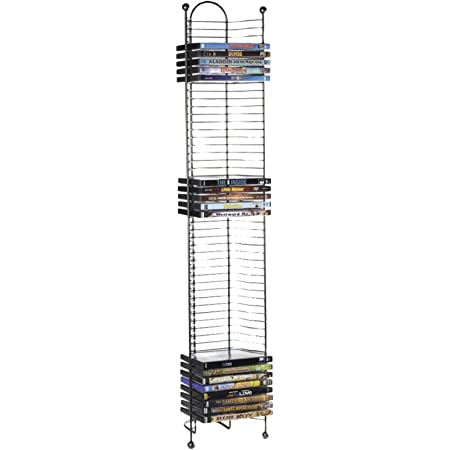 Atlantic 52-DVD/BLU Ray Disc Tower - PN 63712035 in Gunmetal