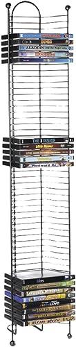 Atlantic 63712035 Nestable 52 DVD/BluRay Games Tower - Gunmetal