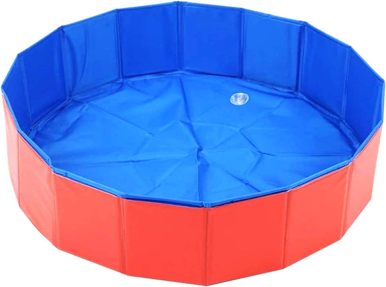 EEM Piscina Plegable de PVC para Mascotas, Piscina Plegable para Perros, Gatos, niños, bañera portátil, bañera, bañera, Estanque de Agua para Jugar al Aire Libre (80 * 30 cm)