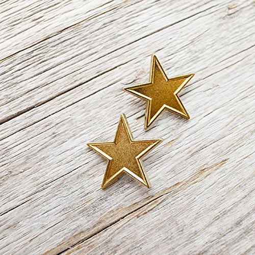 【星コンチョボタン(スターボタン)】メタルボタン #C632 1穴 21mm C/#GIU ゴールド 2個セット