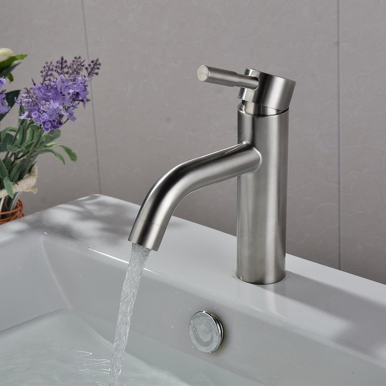 ETERNAL QUALITY Badezimmer Waschbecken Wasserhahn Messing Hahn Waschraum Mischer Mischbatterie Tippen Sie auf Waschbecken Wasserhahn einzigen Griff einzelne Bohrung Badez