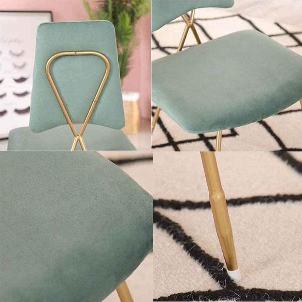 YAHAO Chaises De Salle à Manger, Waiting Chair, Dining Chairs, Leisure Chair, Kitchen,White Pink