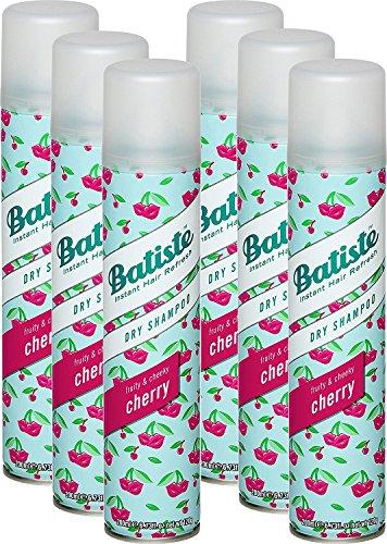 Batiste - Champú en seco Dry Shampoo Fruity & Cheeky Cherry. Pelo limpio. Para todos los tipos de cabello, 6 unidades porpack (6x 200ml)