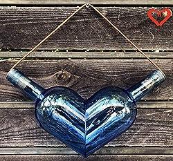 Heart Shaped Decor from Wine Bottles ~ cut bottle art