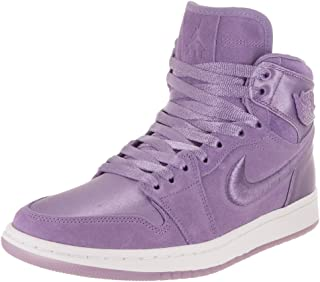 Nike Women's AIR Jordan 1 Retro HIGH Summer of HIGH Shoe Purple Earth/White/Metallic Gold (9.5 B(M) US)