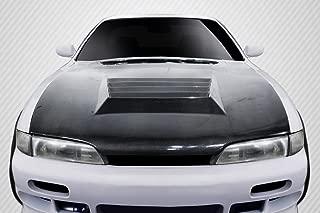 Carbon Creations Replacement for 1995-1996 Nissan 240SX S14 D-Spec Hood - 1 Piece
