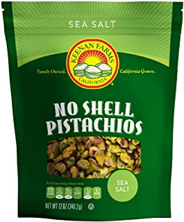 Keenan Farms Salted and Roasted Pistachio Kernals - 12 Oz Bag - No Shell Pistachios - Kosher - Resealable P...