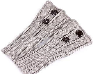 PIXNOR Pixnor Damen stricken Stulpen Socken Gestrickte kurzer Punkt Legwarmer Boot-Abdeckung Socken Hellgrau