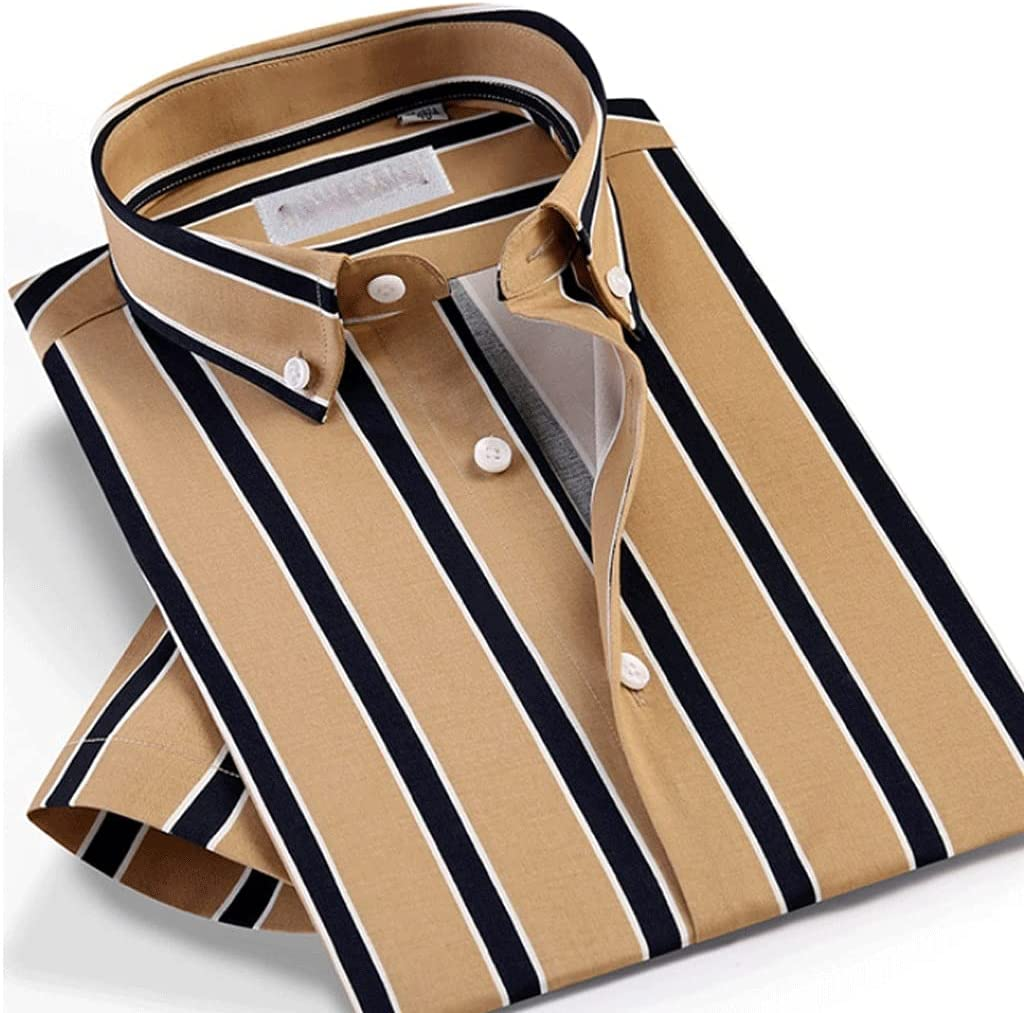 Award-winning store JJZXC Men's Reservation Summer Style Short Multi-Color Sleeve Casual Striped
