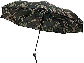 CAFEDIMLY(カフェディムリー)折りたたみ傘 8本骨で風にも強い耐風設計 軽量タイプ 親骨55cm カモフラージュ グリーン