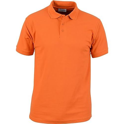 b77cfce8 Orange Polo Shirts: Amazon.co.uk