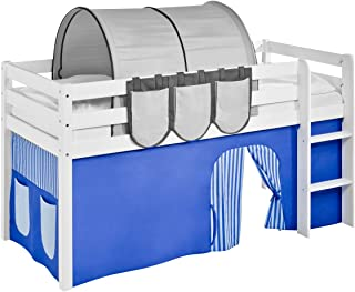 Rideau Bleu-Rayures - pour Lit Mezzanine et Lit superposé