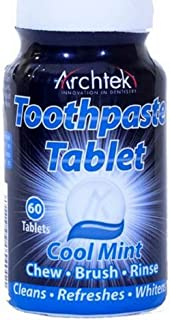 Archtek Toothpaste Tablets Cool Mint - 60 Count per Bottle (2 Pack)