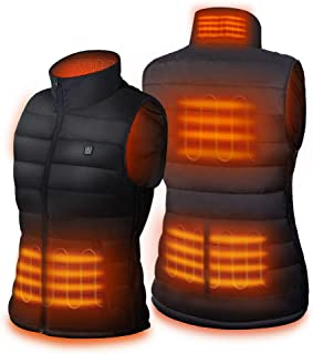 DR.PREPARE Dr. Prepare Heated Vest, Unisex Heated Clothing for men women, Lightweight USB Electric Heated Jacket with 3 Heating Levels, 6 Heating Zones, Adjustable Size for Hiking (Battery Pack Not Included)