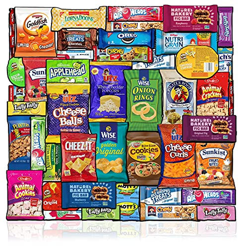Care Package (48 Count) Snacks Food Cookies Chocolate Bar Chips Candy Ultimate Variety Gift Box Pack...
