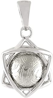 Starborn Muonionalusta Meteorite Sphere Sterling Silver Star Pendant
