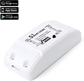 TNP WiFi Smart Switch Home Automation Light Switch Module - Amazon Echo Alexa Google Home Assistant Compatible, Remote Control Household Appliance Wireless Timer Plug Outlet Socket Controller Device