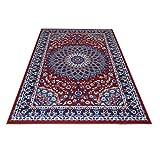 Alfombra de diseño clásico persa, económica, color rojo, modelo Royal Shiraz...