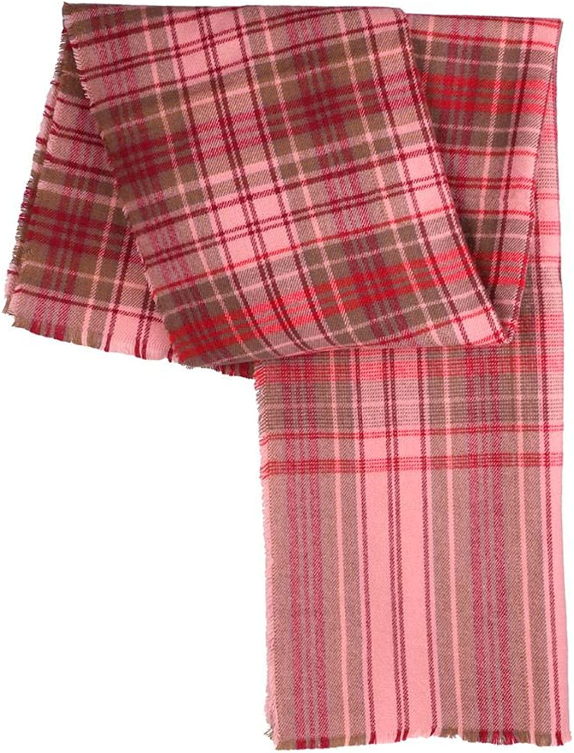 Alloet Cashmere Plaid Stripe Scarf Winter Autumn Warm Women Korean Wraps Shawls