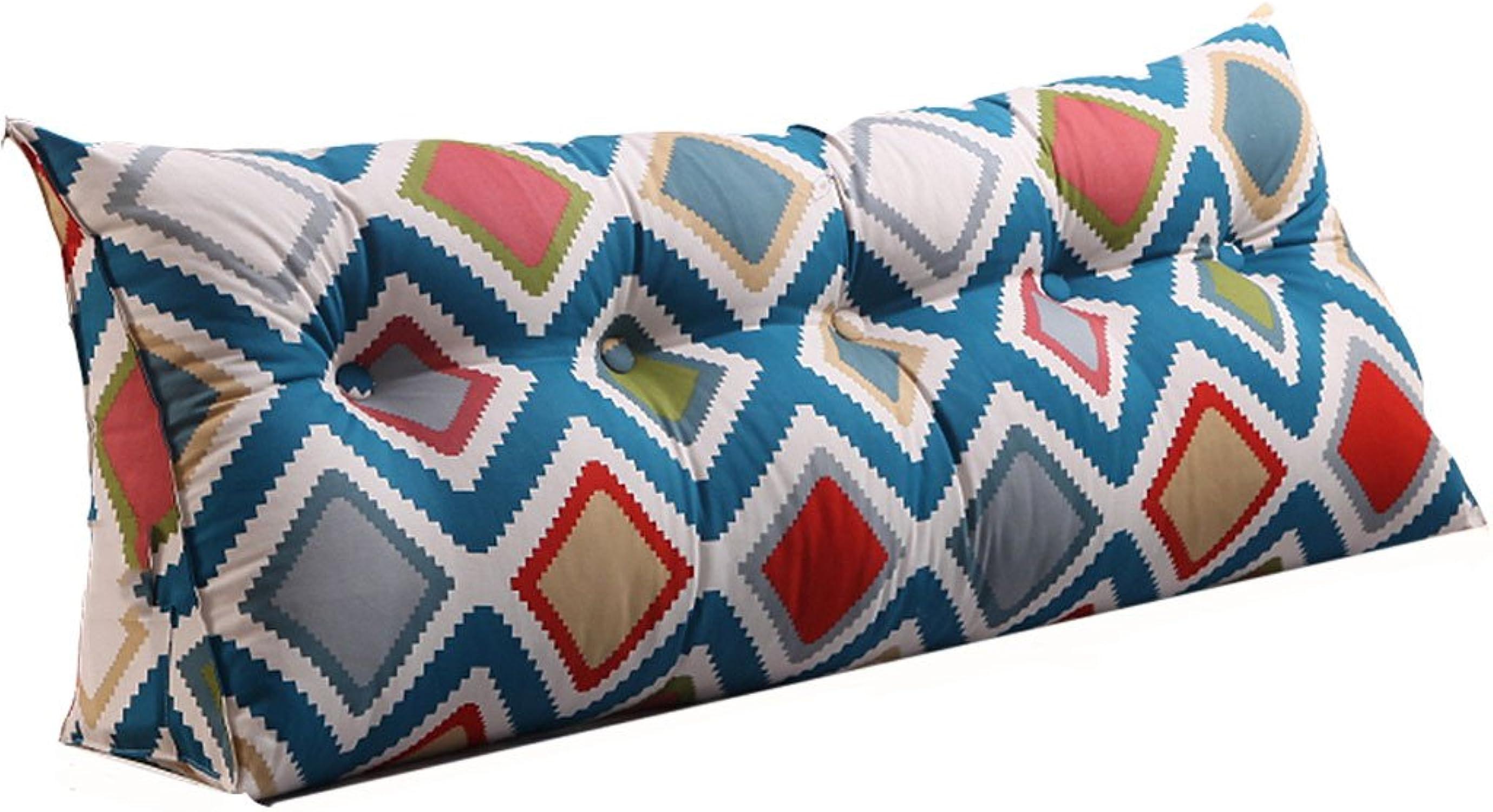 XXT-oreiller Coussin Triangulaire Taie d'oreiller Oreiller Lombaire Coussins de canapé Grand Coussin sur Le lit (Couleur   C, Taille   180cm)