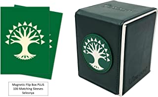 Guilds of Ravnica Selesnya Deck Protector & Magnetic Alcove Deck Box Combo (100 Count) for MTG