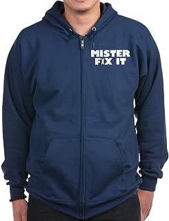 Mister Fix It - Zip Hoodie, Classic Hooded Sweatshirt with Metal Zipper