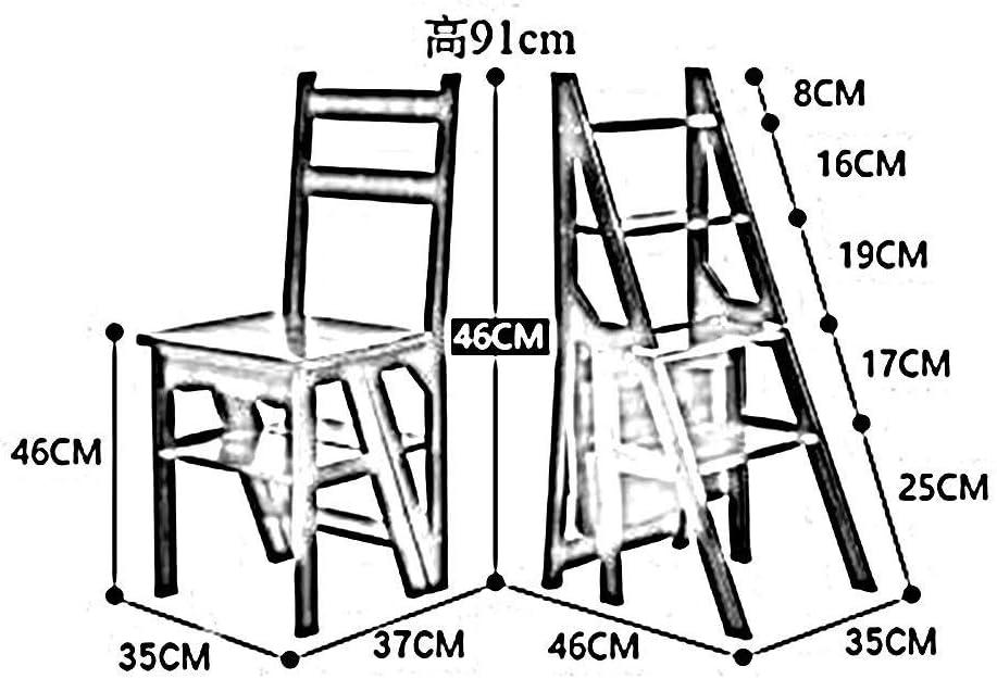 WJJ Tabouret Pliant Portable Tabourets Échelle Double Usage en Bois 4 Étapes Multi-Fonction Repliable Chaise d'escalade Ménage Intérieur Tabouret Pliant Haut (Color : B) B