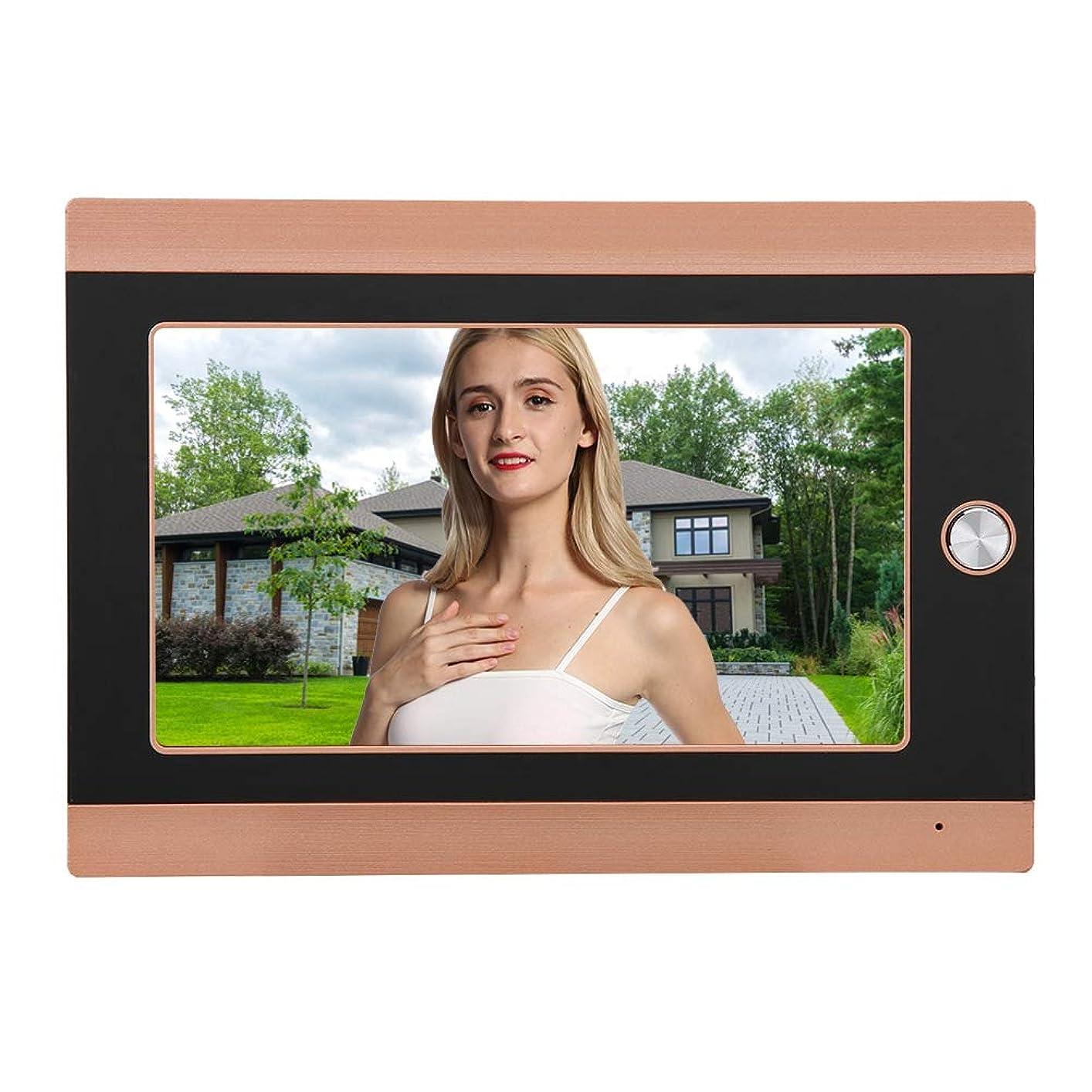 教え卒業記念アルバム試してみるWIFIワイヤレスドアビューアードアベル ASHATA7インチLCDスクリーン 720 P HD PIRカメラ 16チャイム インターホン チャイムセット 受信機 家庭用 ワイヤレスチャイム(ゴールド USプラグ)